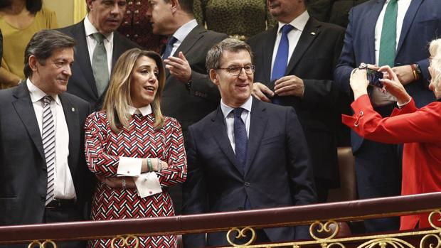 Fernández, Dïaz y Feijoo, este jueves en el Congreso de los diputados de Madrid