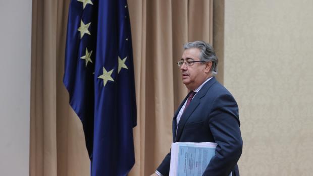 Juan Ignacio Zoido durante una comparencia en su etapa como mninistro en el Congreso de los Diputados