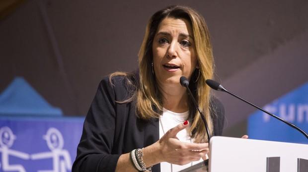 Susana Díaz en un acto institucional celebrado el pasado jueves