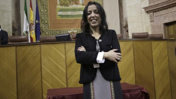 Marta Bosquet, tras ser elegida como nueva presidenta del Parlamento andaluz