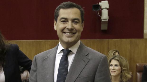 Juanma Moreno, este jueves en el Parlamento de Andalucía