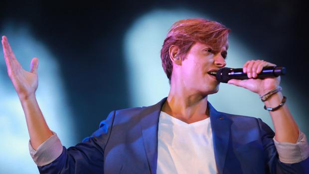 El cantante venezolano, en uno de sus conciertos
