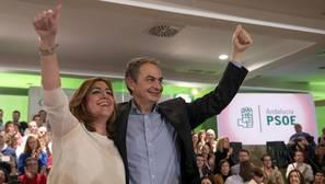 Zapatero respalda a Susana Díaz: «Representa la fuerza del PSOE y de ganar»
