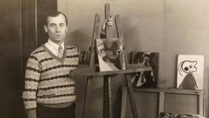 Miró, en su estudio parisino en 1939