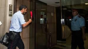 Trapero, a su llegada a la sede de la Fiscalía Superior de Cataluña