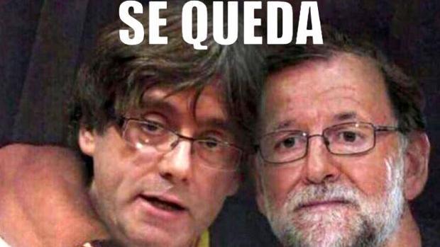 Uno de los memes que se pudieron ver en Twitter sobre Puigdemont