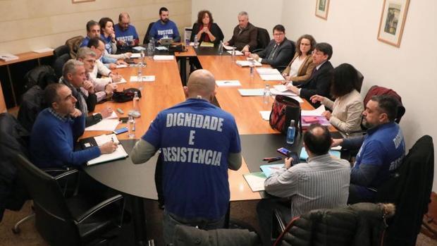 Última reunión entre la Xunta y los sindicatos judiciales