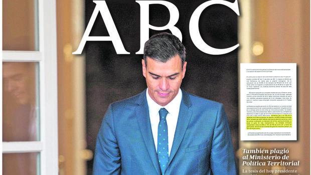 Sánchez sigue sin explicar los 13 plagios desvelados por ABC