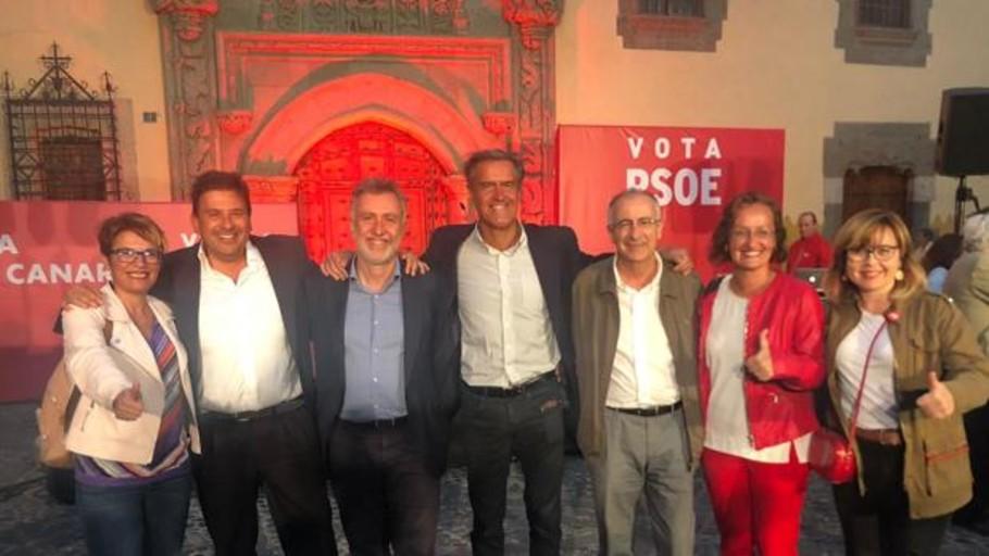 Vídeo: El PSOE en Canarias de Ibarra y Torres alientan al «voto últil» para el 26M