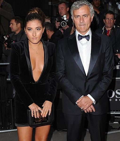 Matilde y su padre, José Mourinho, el pasado mes de septiembre