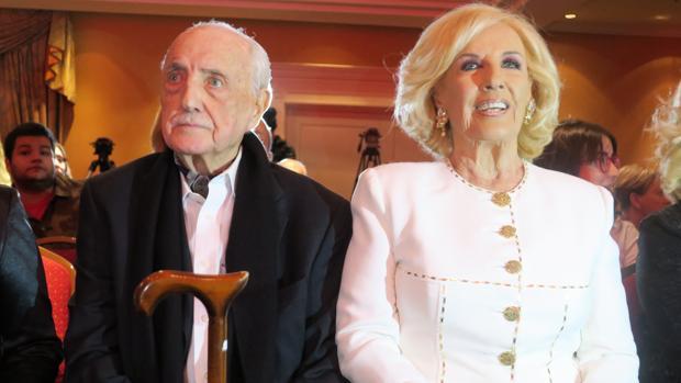 Mirtha Legrand junto a su hermano José Antonio Martínez Suárez