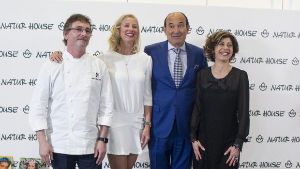 Andoni Aduriz, Anne Igartiburu, Félix Revuelta y Azucena González