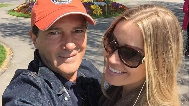 Antonio Banderas y Nicole Kimpel en Ginebra, hace unos días