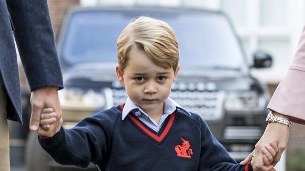 El príncipe Jorge en su primer día de colegio en el Thomas's Battersea School