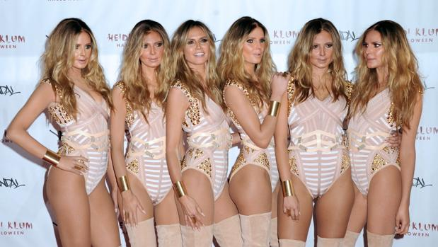 Heidi Klum y su clones en la fiesta de Halloween del pasado año