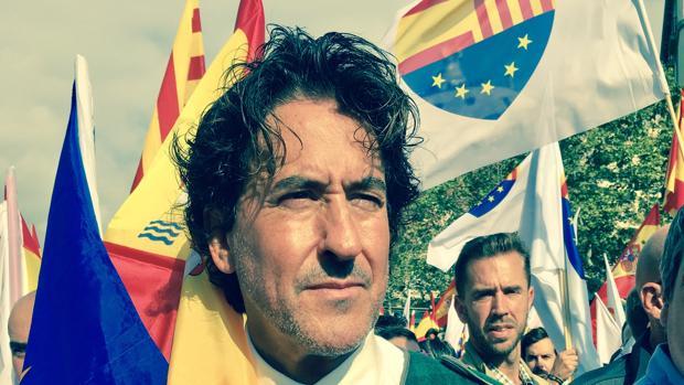 Álvaro de Marichalar, en la manifestación organizada en Barcelona por Sociedad Civil Catalana