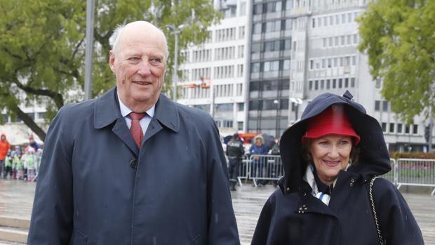 Harald y Sonia de Noruega, este año, durante las celebraciones por el 80 cumpleaños del Rey