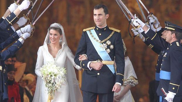 Don Felipe y Doña Letizia el día de su boda