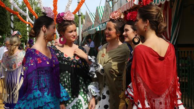 Un grupo de flamencas