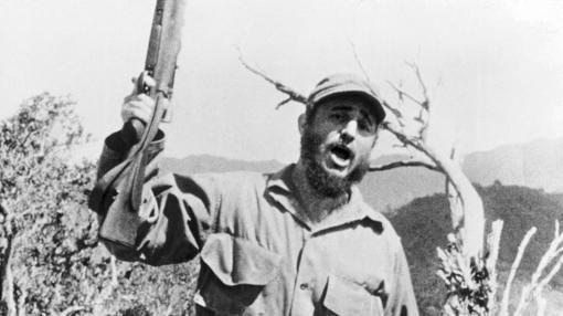 Fidel Castro en Sierra Maestra, antes de tomar el poder