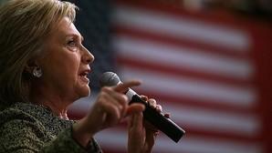La candidata demócrata Hillary Clinton durante un discurso