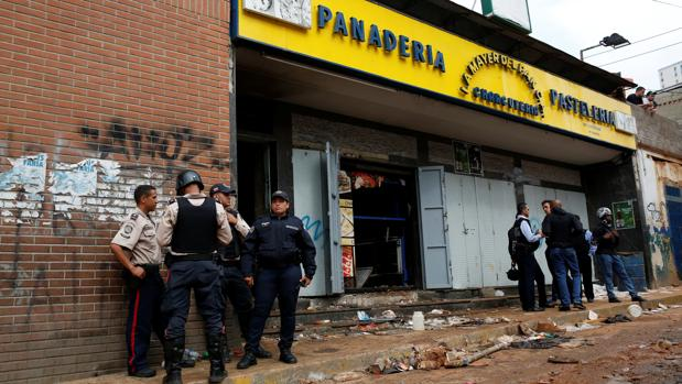 Panadería saqueada en Caracas