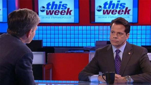 Scaramucci, durante la entrevista con la ABC