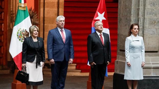 El presidente cubano visita México para impulsar la cooperación bilateral