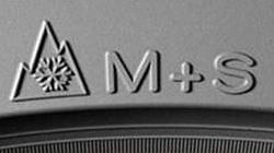 El neumático de invierno lleva este «logo»
