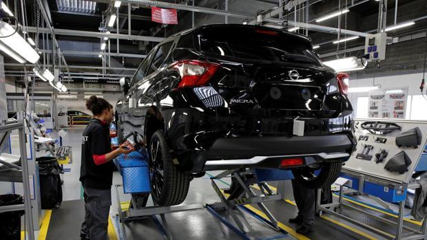 Un Nissan Micra, ensamblado en la factoría de Renault de Flins (París)