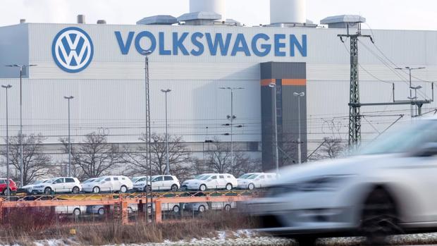 Vista exterior de la planta de Volkswagen (VW) en Zwickau (Alemania)