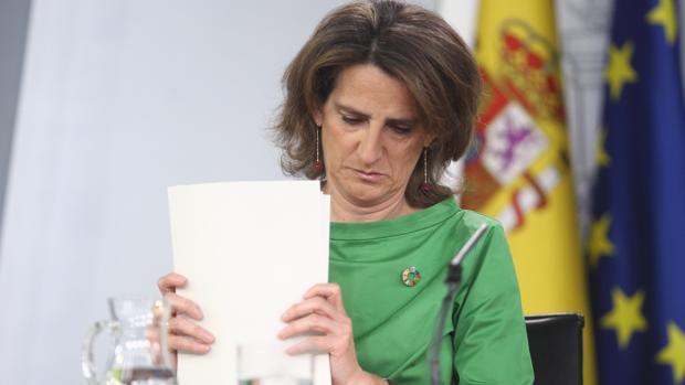 La ministra de Transición Ecológica, Teresa Ribera, en el Consejo de Ministros de este viernes