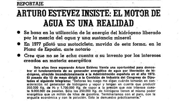 La misteriosa historia del motor de agua inventado por un español en los años 70