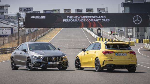 Prestaciones sobresalientes y diseño expresivo: así son los nuevos Mercedes-AMG Clase A 45 y CLA 45