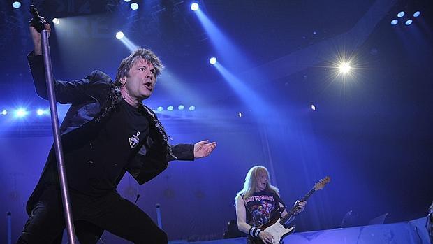 El grupo Iron Maiden, durante una actuación