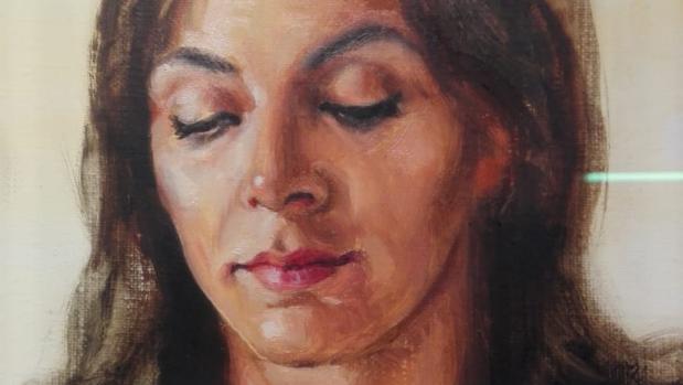 Detalle de la Inmaculada de Ricardo Suárez adquirida por la Fundación Cajasol