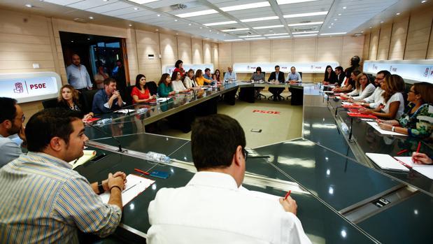 Reunión del la Ejecutiva Federal del PSOE