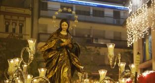 Sevilla acompañó a la Inmaculada del Santo Ángel en su procesión extraordinaria