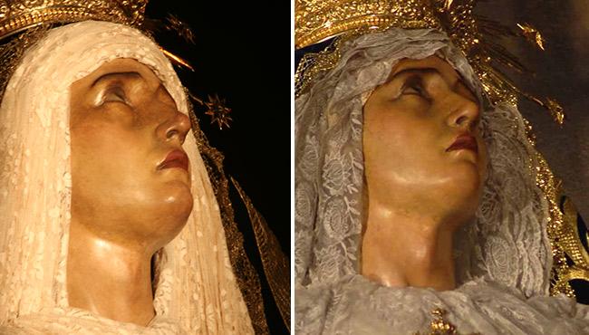 El antes y el después de la Quinta Angustia tras su restauración