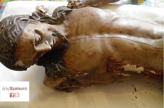 Hallan un documento en el interior del Cristo Yacente de Chiclana que revela su origen genovés