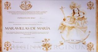 Juan Manuel Ojeda ilustra la papeleta  de sitio de la salida de la Virgen de las Maravillas del Carmen Doloroso