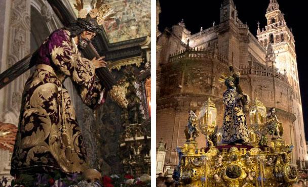 Las túnicas bordadas en los nazarenos. La moda que rompió la iconografía