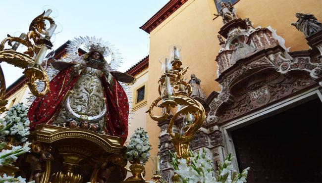 Fiesta en los Terceros con la Virgen de la Encarnación