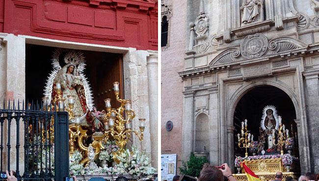 Madre de Dios del Rosario y la Virgen del Pilar saldrán en procesión