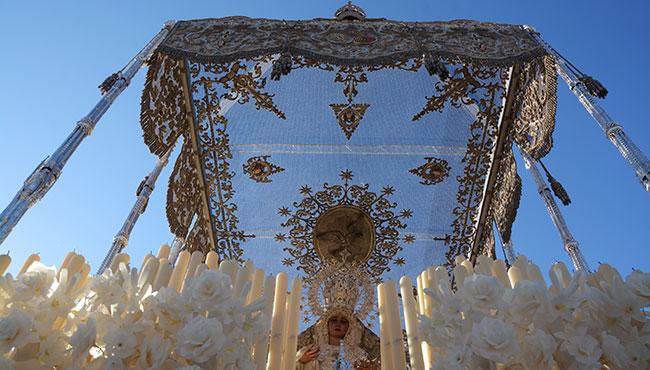 El actual techo de palio de la Virgen de la Paz / JOSÉ JAVIER COMAS RODRÍGUEZ