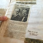 Un recorte de prensa de la época sobre Manuel y José Font de Anta