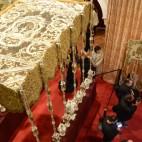 Paso de palio de la Virgen de la Salud de San Gonzalo en el Mercantil / JOSÉ JAVIER COMAS RODRÍGUEZ