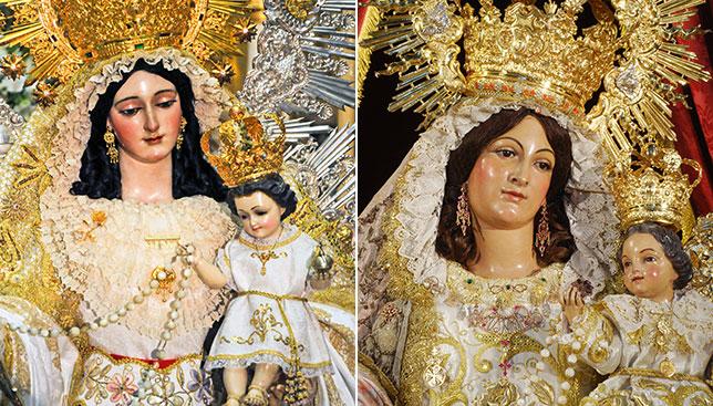 La Virgen de las Nieves y la Virgen del Rosario realizarán sus procesiones/ J. A. BANDERA