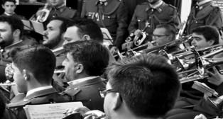Músicos de la Banda de cornetas y tambores del Cristo de la Sangre de San Benito