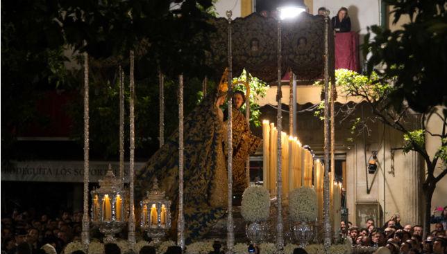Paso de palio de la Virgen de la Merced